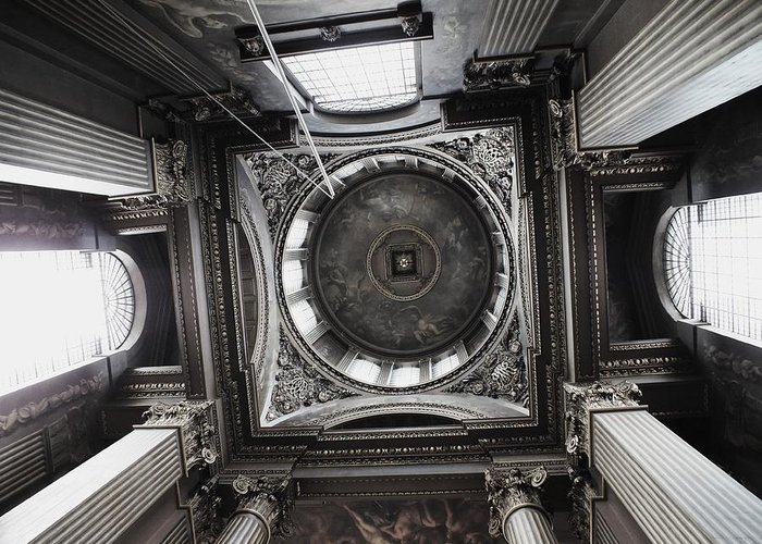 Architecture Greeting Card featuring the photograph The Painted Hall by Anna Villarreal Garbis