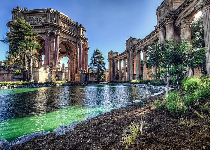 Palace Greeting Card featuring the photograph The Palace Of Fine Arts by Everet Regal