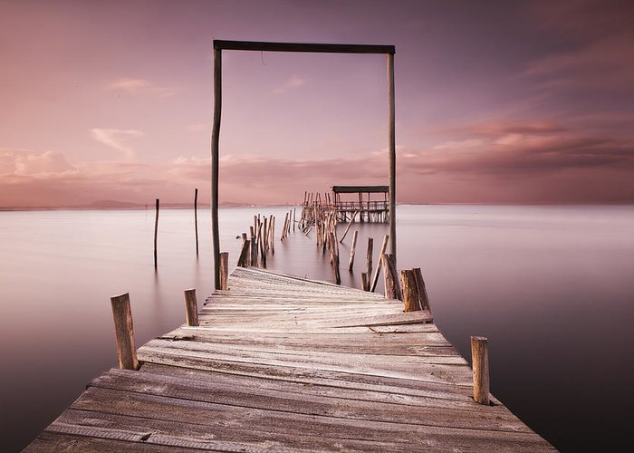 Wood Pier Greeting Cards