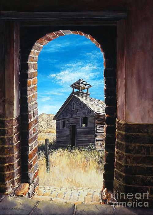 Lynette Cook Greeting Card featuring the painting The Past by Lynette Cook