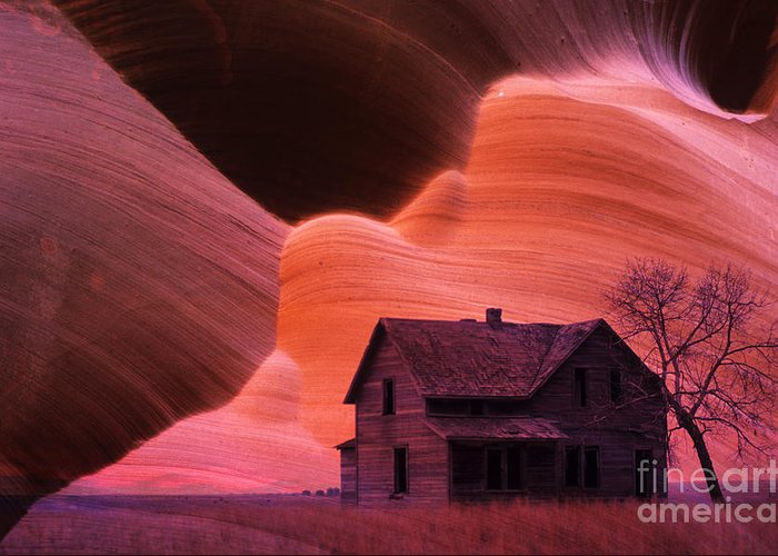 Old Greeting Card featuring the photograph The Perfect Storm by Bob Christopher