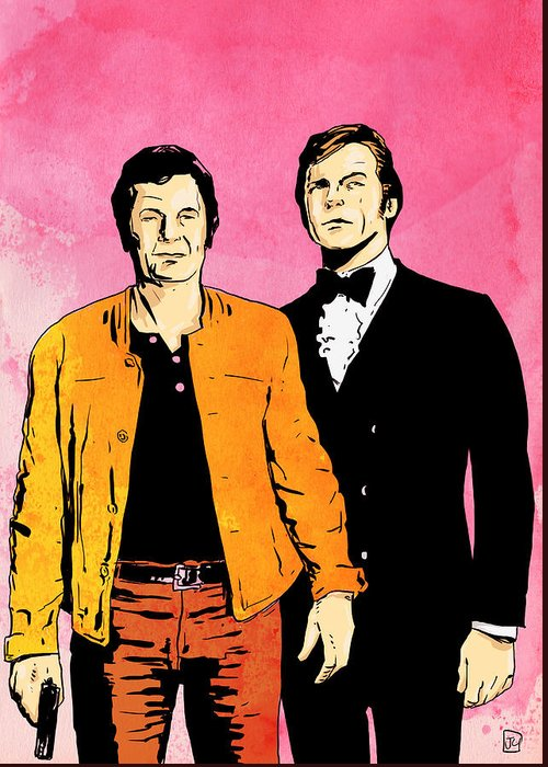 The Persuaders Greeting Card featuring the drawing The Persuaders by Giuseppe Cristiano