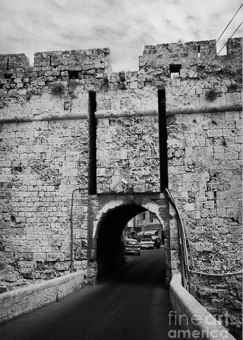 Famagusta Greeting Card featuring the photograph The Porta Di Limisso The Old Land Limassol Gate In The Old City Walls Famagusta Cyprus by Joe Fox