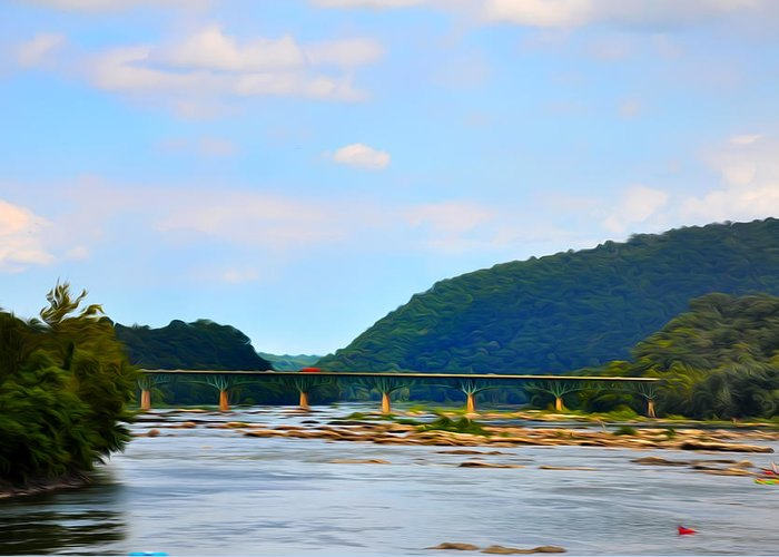 The Potomic River West Ivrginia Greeting Card featuring the photograph The Potomic River West Virginia by Bill Cannon