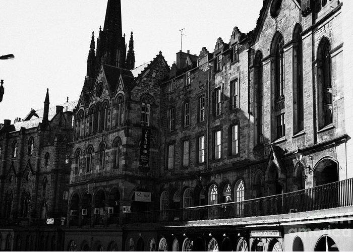 Quaker Greeting Card featuring the photograph The Quaker Meeting House On Victoria Street Edinburgh Scotland Uk United Kingdom by Joe Fox