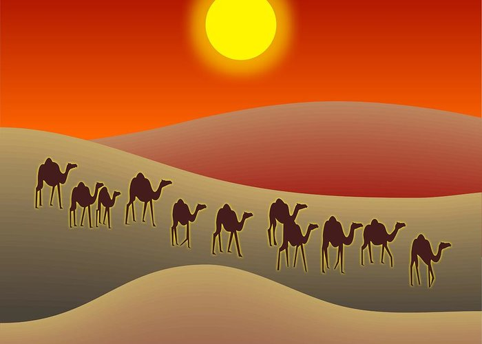 Sahara Sunlight Digital Art Greeting Cards