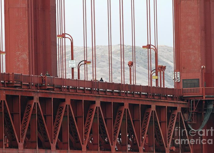 San Francisco Greeting Card featuring the photograph The San Francisco Golden Gate Bridge - 7d19060 by Wingsdomain Art and Photography
