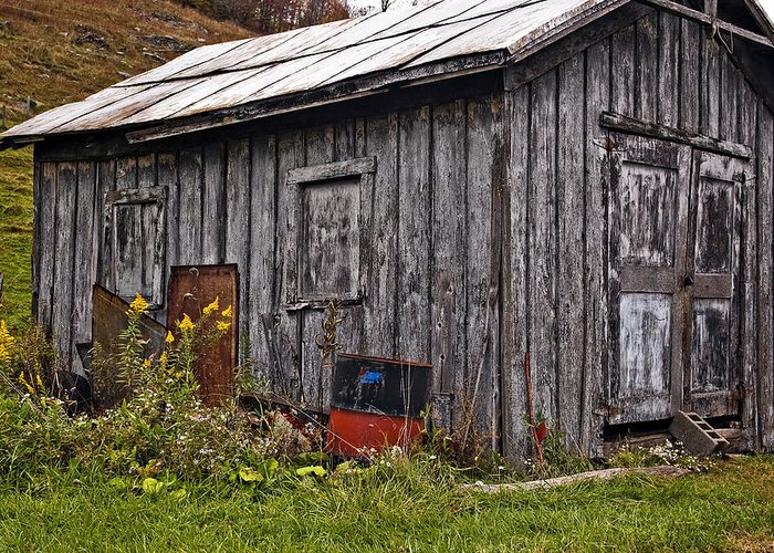 West Virginia Greeting Card featuring the photograph The Shed by Steve Harrington