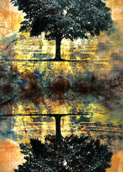 Tree Greeting Card featuring the digital art The Small Dreams Of Trees by Tara Turner