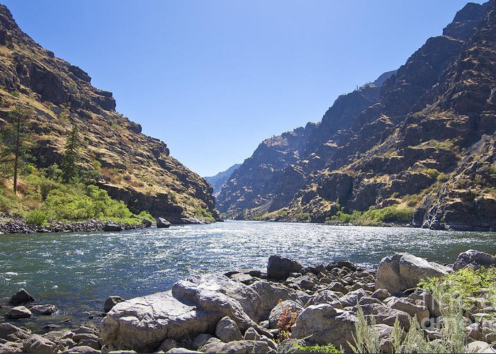 Kevin Felts Greeting Card featuring the photograph The Snake River In Hells Canyon by Kevin Felts