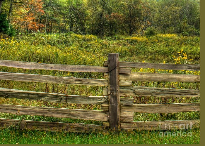 Split Rail Fence Greeting Card featuring the photograph The Split Rail Meadow by Benanne Stiens