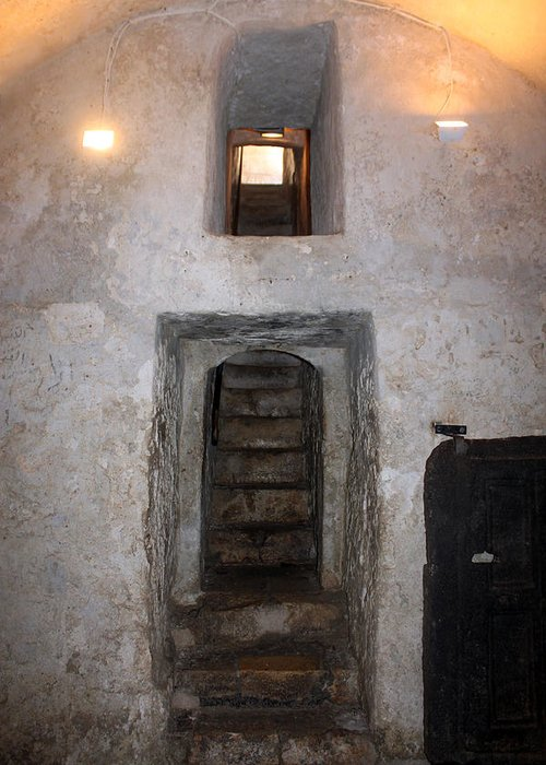 Stairs Greeting Card featuring the photograph The Stairs To John The Baptist Tomb by Munir Alawi