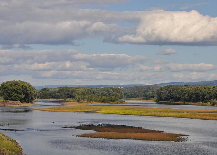 The Susquehanna River At Kingston Pa. Greeting Card featuring the photograph The Susquehanna River At Kingston Pa. by Bill Cannon