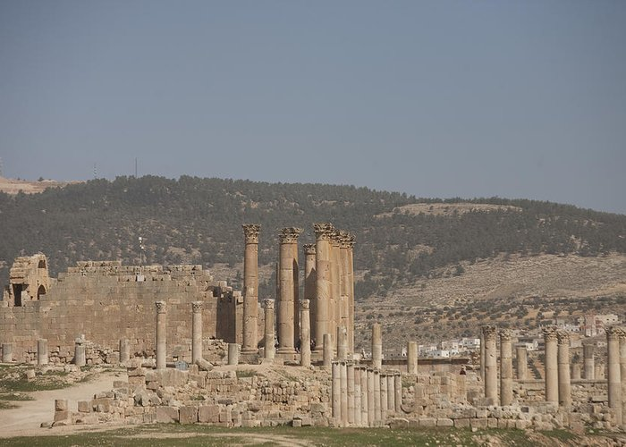 Columns Greeting Card featuring the photograph The Temple Of Artemis In The Ruins by Taylor S. Kennedy