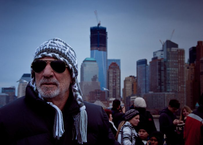 New York Greeting Card featuring the photograph The Tourist by Heidi Reyher