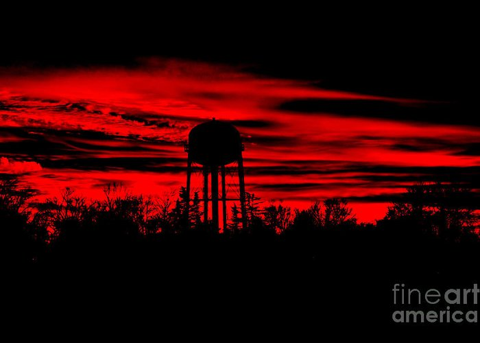 Sunset Greeting Card featuring the photograph The Tower by Tamera James