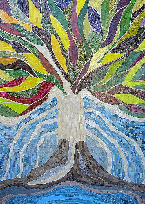 Tree Greeting Card featuring the mixed media The Tree Of Life by Claudia French