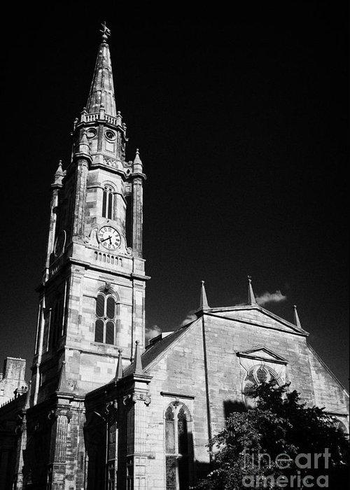 The Greeting Card featuring the photograph The Tron Church Edinburgh Scotland Uk United Kingdom by Joe Fox