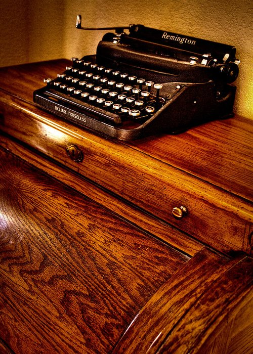 Remington Greeting Card featuring the photograph The Typewriter by David Patterson