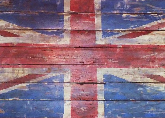 Flag Greeting Card featuring the photograph The Union Jack by Anna Villarreal Garbis