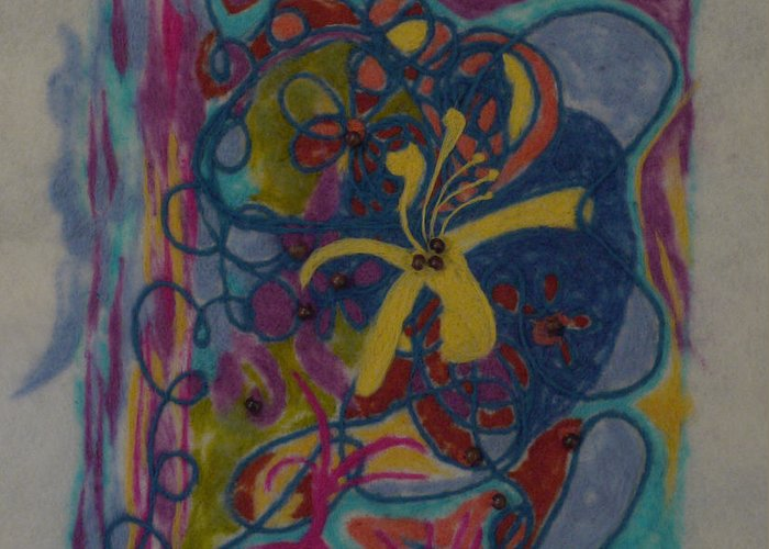 Colorful Greeting Card featuring the painting The Way Of The World by Heather Hennick