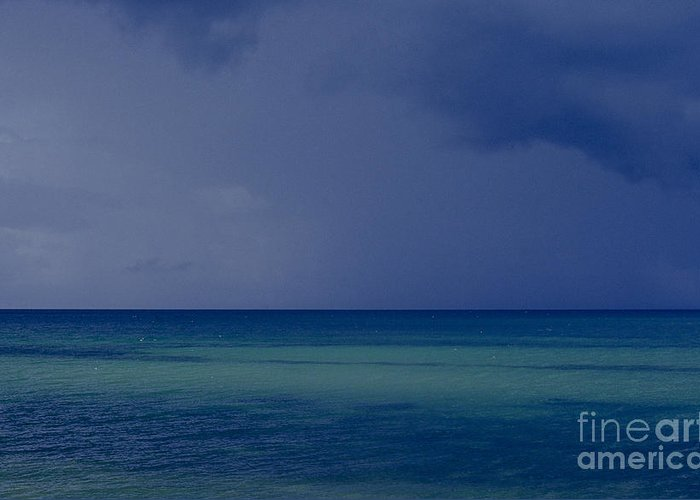 Ocean Greeting Card featuring the photograph The Weather Is Changing by Heiko Koehrer-Wagner