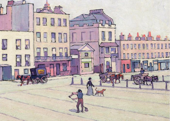 Xyc153929 Greeting Card featuring the photograph The Weigh House - Cumberland Market by Robert Polhill Bevan
