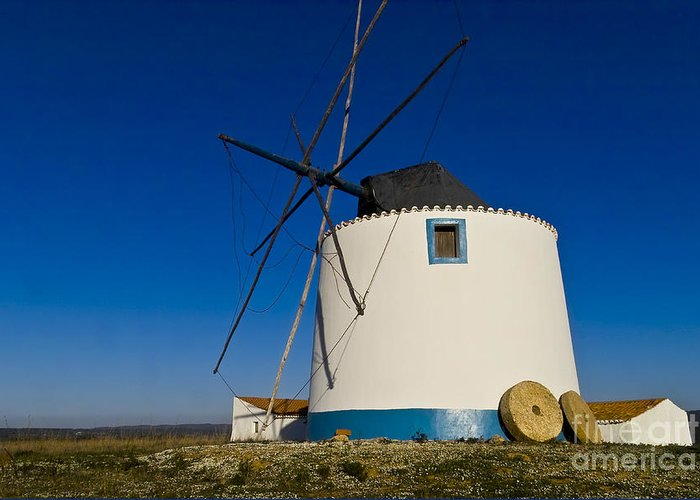 Windmills Greeting Card featuring the photograph The Windmill by Heiko Koehrer-Wagner