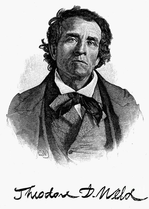 1844 Greeting Card featuring the photograph Theodore D. Weld (1803-1895) by Granger