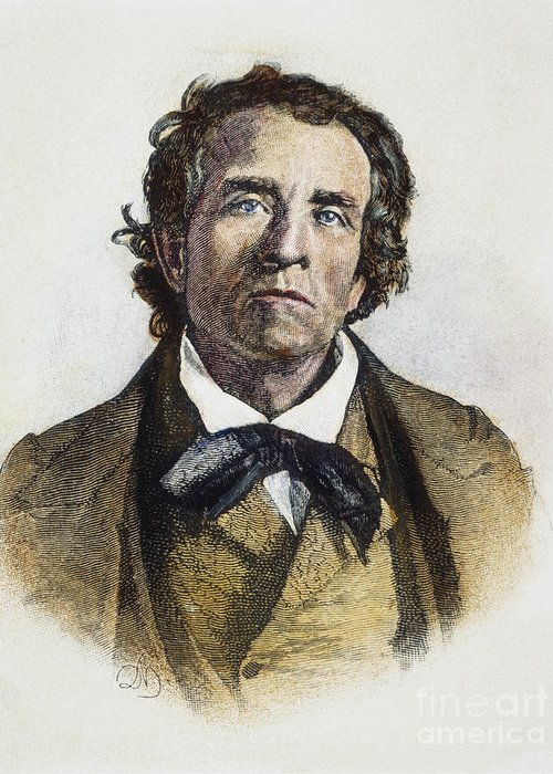 19th Century Greeting Card featuring the photograph Theodore Weld (1803-1895) by Granger