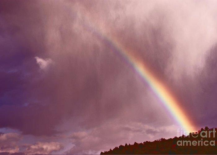 Rainbow Greeting Card featuring the photograph There Is Always Hope by Aimelle