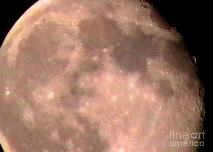 Nature Greeting Card featuring the photograph Theres A Moon Out Tonight by John From CNY