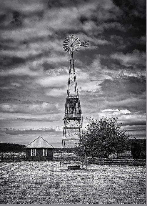 American Style Greeting Card featuring the photograph This Is Washington State No. 12 - The American Windmill by Paul W Sharpe Aka Wizard of Wonders