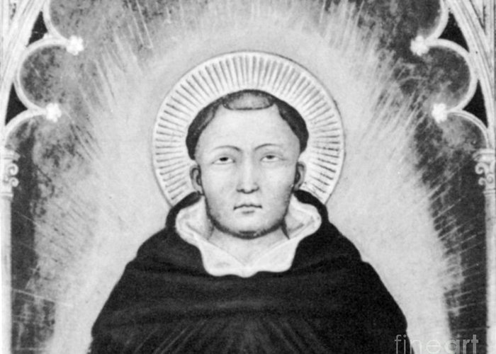 History Greeting Card featuring the photograph Thomas Aquinas, Italian Philosopher by Science Source