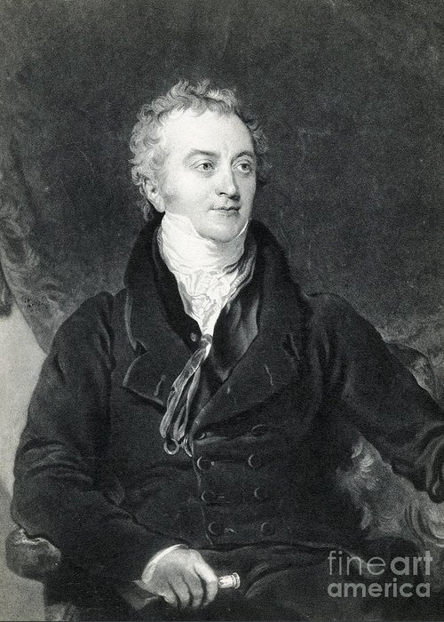 Science Greeting Card featuring the photograph Thomas Young, English Polymath by Photo Researchers