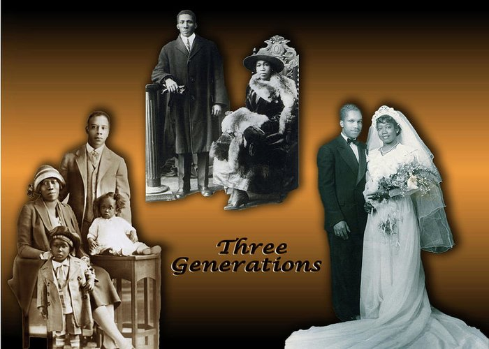 Family Greeting Card featuring the digital art Three Generations by Terry Wallace