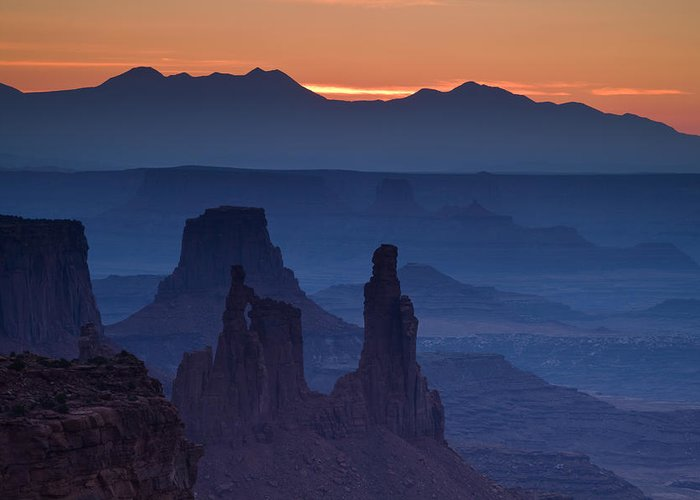 Mesa Arch Greeting Card featuring the photograph Through Mesa Arch by Andrew Soundarajan