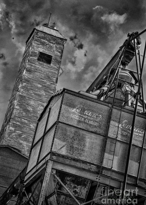 Black And White Greeting Card featuring the photograph Through The Mill Bw by Ken Williams