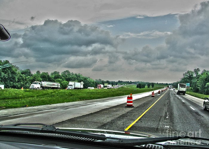 Ahead Greeting Card featuring the photograph Thunder Road by Alan Look