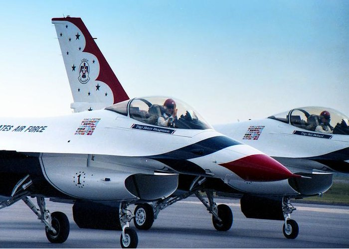 Photography Greeting Card featuring the photograph Thunderbirds by Lynnette Johns