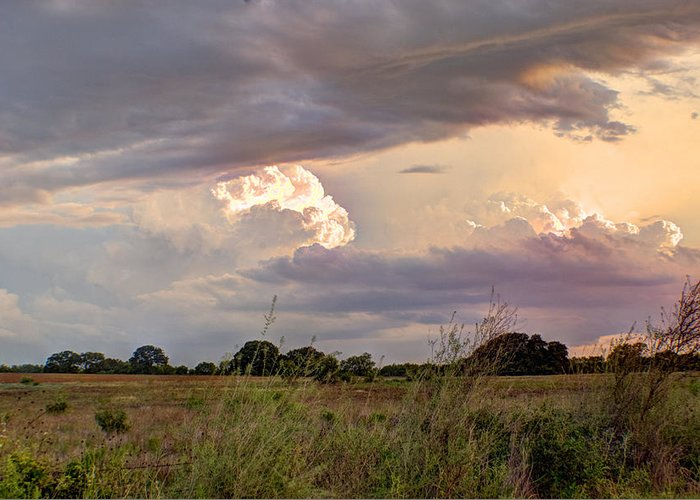 Clouds Greeting Card featuring the photograph Thunderclouds by Beth Gates-Sully