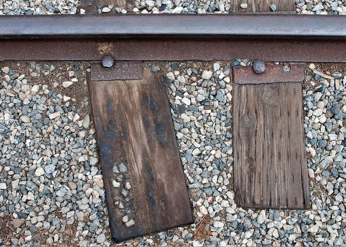 Railroad Greeting Card featuring the photograph Ties by Dan Holm