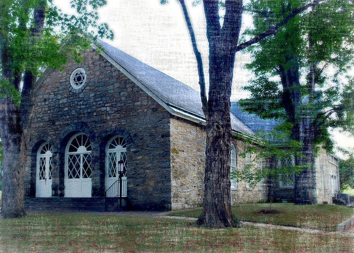 Church Greeting Card featuring the photograph Timber Ridge Presbyterian Church by Kathy Jennings