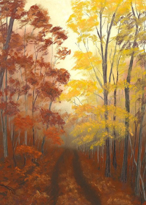 Ozark National Forest Greeting Card featuring the painting Timber Road by Garry McMichael