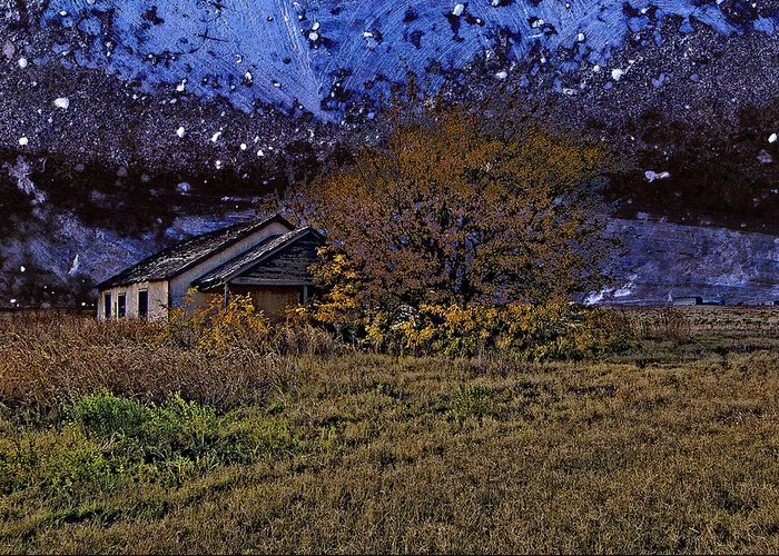 Old House Greeting Card featuring the photograph Time Before Winter by Robert Hudnall