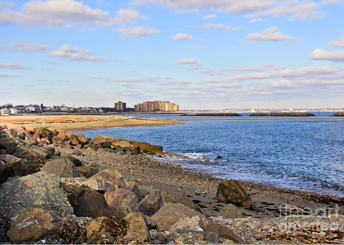 New England Coast Greeting Card featuring the photograph Time-honored New England Coast by Extrospection Art