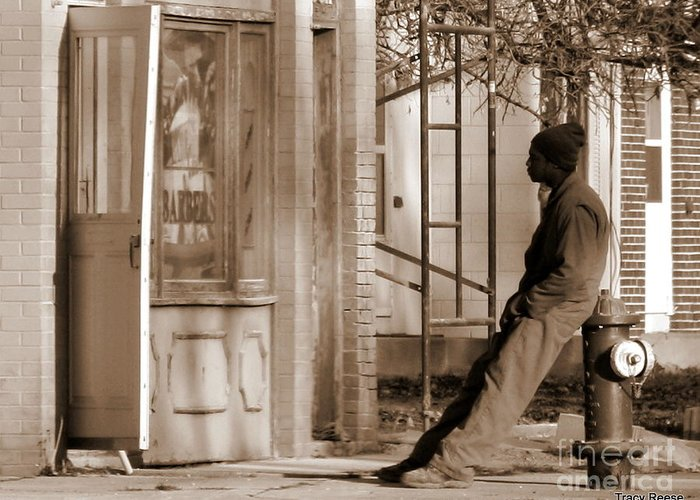 Sepia Greeting Card featuring the photograph Time Stands Still by Tracy Reese