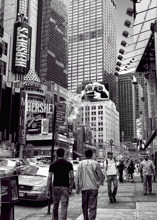 Architectural Photography Greeting Card featuring the photograph Times Square by Andre Salvador