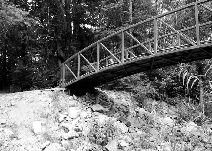 B&w Bridge Photograph Greeting Card featuring the photograph To The Other Side by Ester Rogers