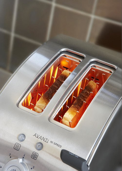 Appliance Greeting Card featuring the photograph Toast by Mark Sykes